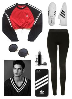 """""""Day Look 176 Sporty Summer Adidas Running Hot Outfit"""" by fashion-by-katrine on Polyvore featuring adidas and Topshop"""