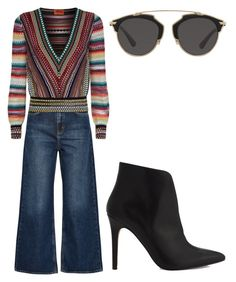 """Unbenannt #557"" by glamand ❤ liked on Polyvore featuring M.i.h Jeans, ALDO, Missoni and Christian Dior"