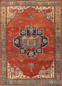 Antique Persian Serapi rug Source by lisacookcoppler Dark Carpet, Modern Carpet, Persian Carpet, Persian Rug, Iranian Rugs, Carpet Trends, Carpet Ideas, Textiles, Patterned Carpet
