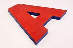 vintage industrial letter 'A' - on Archer and Archer - www.archerandarcher.com