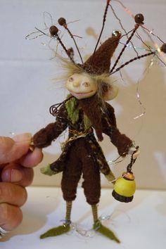 ooak poseable WOODLAND GNOME elf 44 fairy by DinkyDarlings