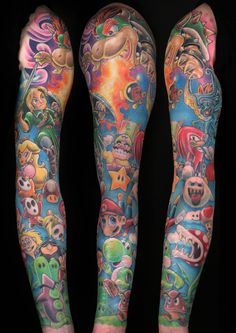Video game tattoo. Freaking awesomee!