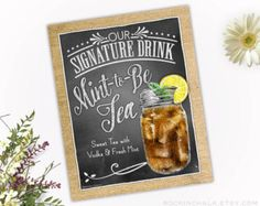 Wedding Decoration Signature Drink Sign As-Is or by RockinChalk