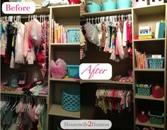 How To Organize Your Kids Closet for less than $20!