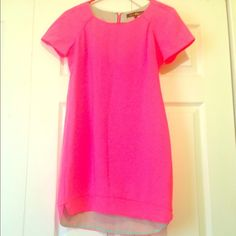 Bright Pink Dress Super cute bright pink spring dress  perfect for a night  worn once  great condition Boutique Dresses