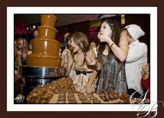 Willy Wonka chocolate fountain