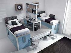Modern Kids Loft Furniture for Ergonomic Boys Bedrooms Space Saving Furniture, Furniture For Small Spaces, Small Rooms, Small Beds, Cool Bunk Beds, Kids Bunk Beds, Loft Beds, Cool Kids Bedrooms, Awesome Bedrooms