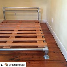 #Repost @pjmehaffeyyall (via @repostapp) ・・・ Installed this pipe & flange bed for #client1760 today! Thx @mrwhiteslate & @dkhigh & @simplifiedbuilding Blog tutorial coming soon! #alchemyeclectic #pjdecor #pjdiy #diy #howto #berkshires #otis #otismass #industrial #industrialdesign #interior #interiors #design #decorate #keeklamp #keeklamppipebed #interiordesign #bedframe #diybedframe