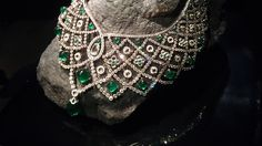 @Faith Bergé stunning emerald and diamond necklace, which showcases Gemfields Zambian emeralds.