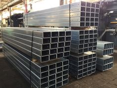 Metal Forming of 10 Gauge Galvanized Channels by Steeltec Products in Cleveland.