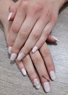 Lovely soft pink nails