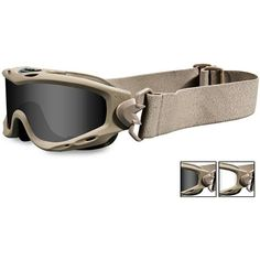 Spear Goggles, Tan Frame, Smoke Gray/Clear Lens   Gear For Survival