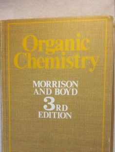 34 best chemistry textbook images on pinterest chemistry organic chemistry morrison and boyd by vintagebooksanddecor fandeluxe Image collections