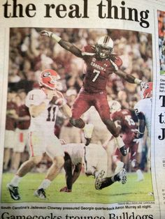 Clowney....need to frame this one!!