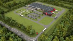 Warehouse Layout, Factory Architecture, Factory Design, Site Plans, Factories, Brewery, Layout Design, Transportation, Truck