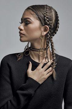 editorial natural hair cornrows