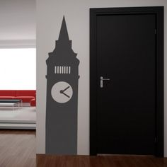 Big Ben London Engalnd Wall Art Sticker Wall Decal - United Kingdom - People & Places // I want this to my house  ♥