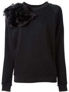 Lanvin Appliqué Flower Sweatshirt - Spinnaker 101 - Farfetch.com