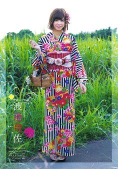 yic17: Keyakizaka46   B.L.T. 2016.09 Issue -...   日々是遊楽也 Asian Cosplay, Japan Girl, Japanese Kimono, Yukata, Korean Pop Group, Asian Woman, Japanese Outfits, Traditional Outfits, Kimono Top