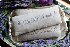 Linen and Lavender Eye Pillow - DIY: Close your eyes, inhale and relax