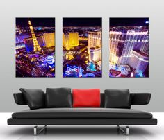 Here is another beautiful canvas print. The 3 panel split canvas wall art looks great. http://www.bluehorizonprints.com.au/canvas-art/city-landscapes/Las-Vegas-at-Night/
