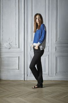 #spring #style #fashion #outfit  #sweater #cashmere #cobalt #beautiful #womenswear