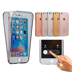 NEW! for IPhone 7 IPhone7 Plus Transparent Full Coverage Clear Soft for IPhone7 TPU 360 Degree Surround Phone Bags Case Cover
