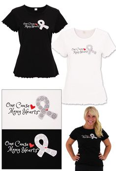 One Cause Many Hearts™ Diabetes Awareness Frill Tee at The Diabetes Site