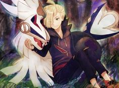 Gladion and his Silvally. Love the art!