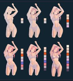 Body Reference Drawing, Drawing Skills, Art Reference Poses, Drawing Poses, Digital Painting Tutorials, Digital Art Tutorial, Art Tutorials, Body Drawing Tutorial, M Anime
