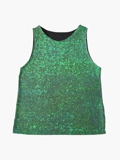Green with Envy Love of Glam Sparkly Glitter Print Sleeveless Top      #blouse #top #shirt #glitter #green #sparkles #sparkling #shiny #glam Blouses For Women, Women's Blouses, Pretty Shirts, Sparkles, Envy, Glitter, Tank Tops, Green, Cotton