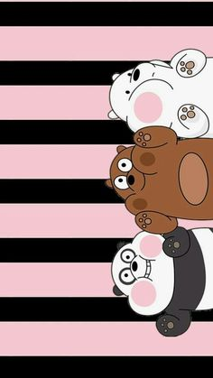 We bara bear Cute Panda Wallpaper, Funny Iphone Wallpaper, Disney Phone Wallpaper, Bear Wallpaper, Kawaii Wallpaper, Cute Wallpaper Backgrounds, Galaxy Wallpaper, Wallpaper Samsung, We Bare Bears Wallpapers