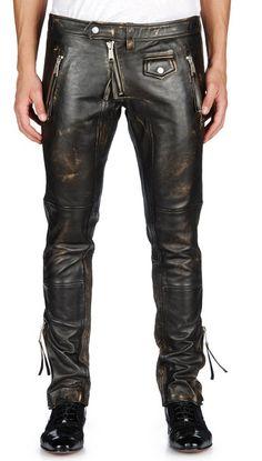 Shop For Cheap Mens Leather Pants Black