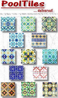 decoratice ceramic pool tile - Google Search