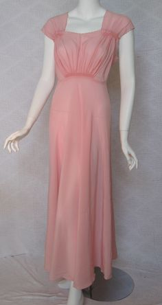 1940s Silk Nightgown