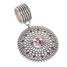 Filigree Stone Pendant Scarf Jewelry Pink | Affordable Costume Jewelry, Scarf Jewelry | Purple Box Jewelry