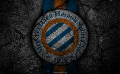 Download wallpapers Montpellier, logo, art, Liga 1, soccer, football club, Ligue 1, grunge, Montpellier FC