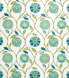 Home Decor Print Fabric-Eaton Square Seashore-Caribbean Floral/Foliage
