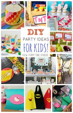 A roundup of fun, creative, and unique birthday party ideas for both boys and girls! Full of inspiration and color ... you're sure to find something for your next bash!