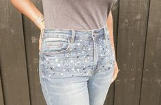 Raid that stash of beads and get embellishing your jeans with this easy peasy DIY from The Crafterpreneur: Got a groovy refashion to share? How about a funky upcycled accessory or decor tutorial? A…