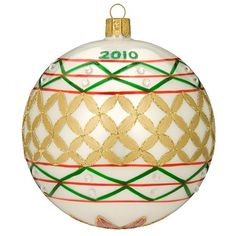 Annual Dated ball Ornament Christmas Balls, Christmas Ornaments, Waterford Crystal, Ball Ornaments, Royal Doulton, Fine Porcelain, Pottery Art, Crystals, Holiday Decor