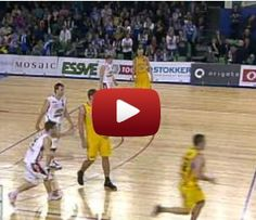 It's not quite humor, but it's awesome. A basketball player was trying to save the ball from going out of bounds and ended up making a 35 foot shot.