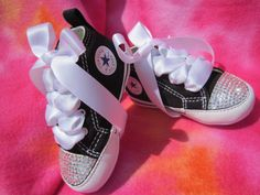 SIMPLY CRYSTALS Infant Girl Converse by angelareesestudio on Etsy