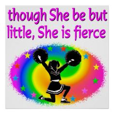 CUTE AND ADORABLE CHEERLEADER  POSTER Awesome Cheerleading posters and wall art to inspire your Cheerleader http://www.zazzle.com/mysportsstar/gifts?cg=196898030795976236&rf=238246180177746410   #Cheerleading #Cheerleader #Cheerleadinggifts #Cheerleadingposter #PersonalizedCheerleader
