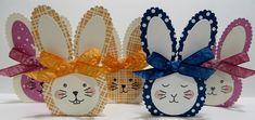 Lynn's Locker: Stampin' Up Bunny Buddies Paper Pumpkin, Balloon Builders, Layering Circles & Ovals - Alternate Easter Bunny Cadbury Egg Treat Holder - III