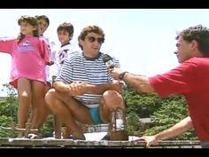 Em 1:36 Ayrton Senna com Adriane Galisteu - Baú do Esporte - 1994