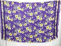 purple hibiscus Hawaiian tropic print sarong $4.95 - http://www.wholesalesarong.com/blog/purple-hibiscus-hawaiian-tropic-print-sarong-4-95/