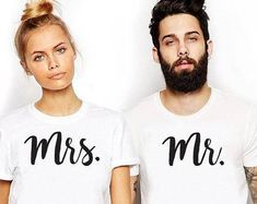Mrs And Mr Shirt: Couples T-Shirts Set.Mr and Mrs Shirt.Couples Shirts.Mr and Mrs Shirts.Cute Couple Shirts.Mr and Mrs Shirt Set.Couple Set. #ad