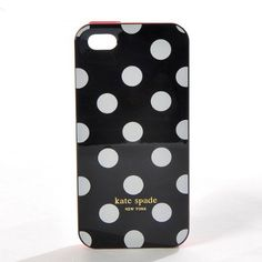 Kate Spade iphone 4 /4s /5 case Polka Dots black white