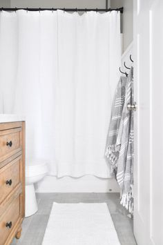 This Light And Airy Bathroom Is The Perfect Way To Transform A Small Stuffy Space Into Modern Farmhouse